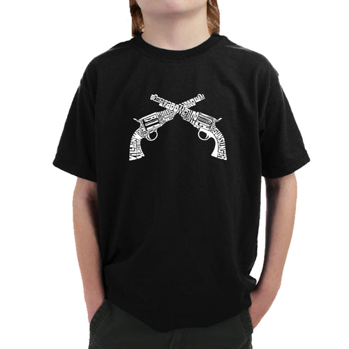 Boy's T-shirt - CROSSED PISTOLS