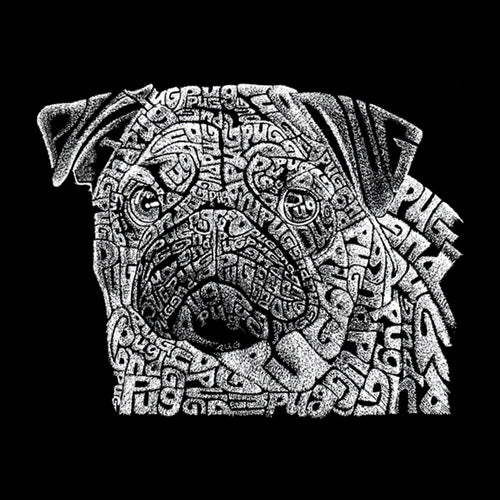 Mens Tank Top - Created using the word Pug