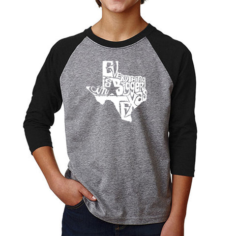 Boy's Raglan Baseball Word Art T-shirt - THE WORD PEACE IN 77 LANGUAGES
