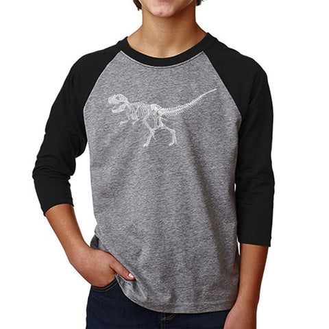Boy's Raglan Baseball Word Art T-shirt - California State