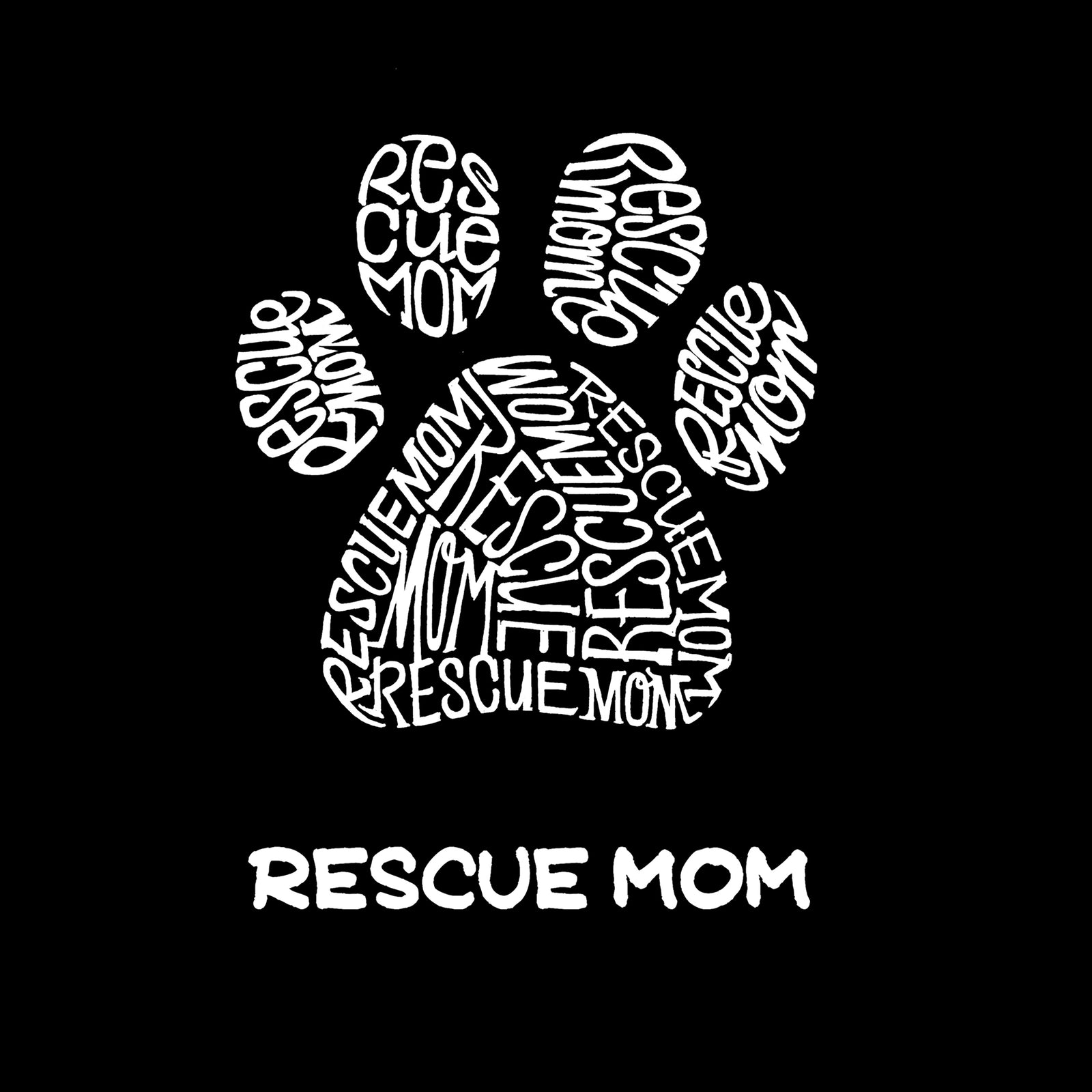 Women's Premium Word Art Flowy Tank Top - Rescue Mom