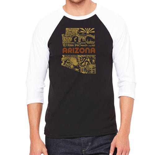 Men's Raglan Baseball Word Art T-shirt - Az Pics