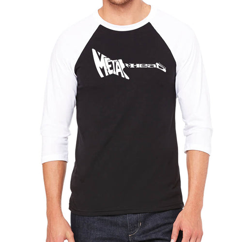 Men's Raglan Baseball Word Art T-shirt - Metal Head