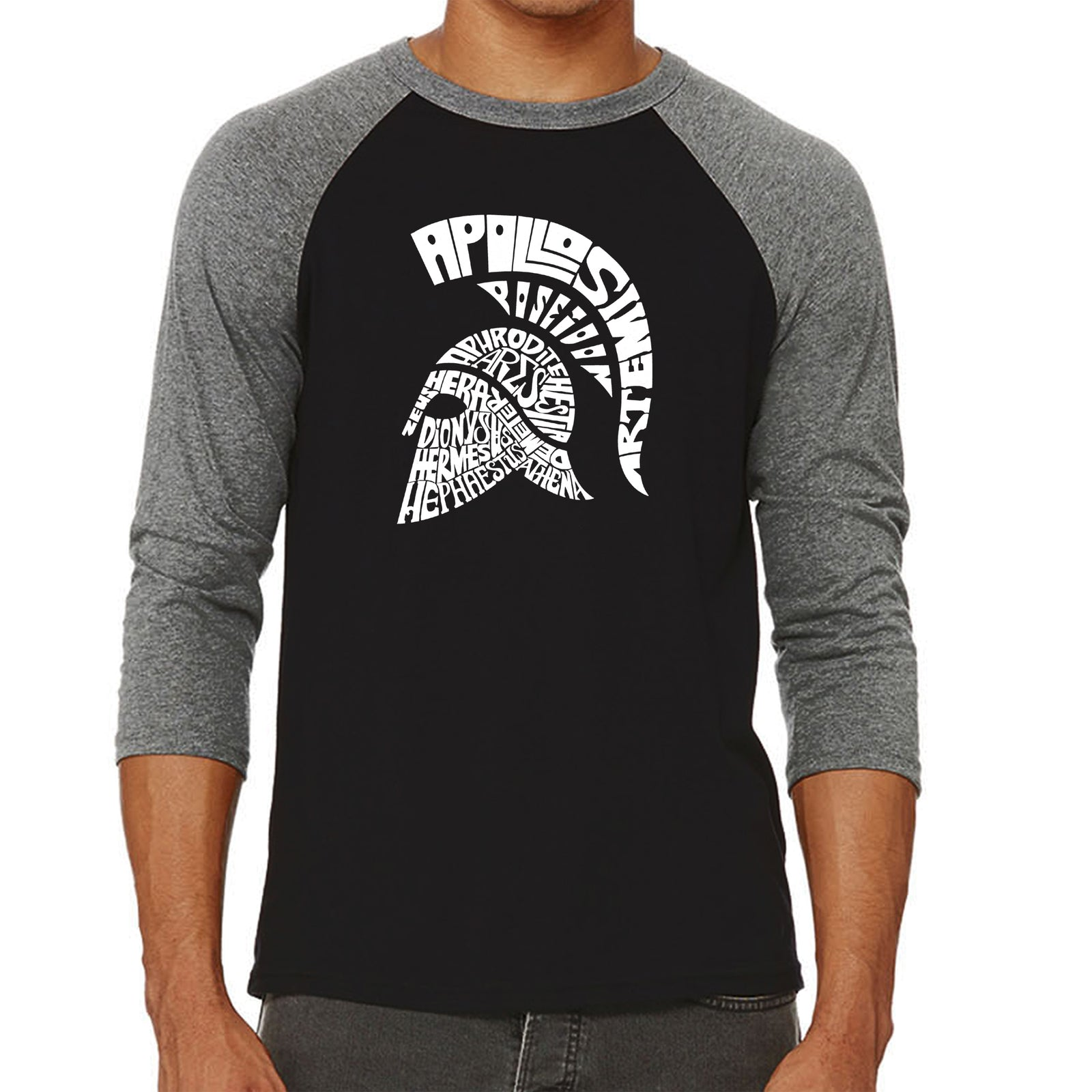 Men's Raglan Baseball Word Art T-shirt - SPARTAN