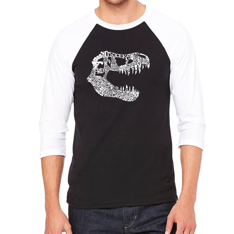 Men's Raglan Baseball Word Art T-shirt - DIFFERENT ROLLS THROWN IN THE GAME OF CRAPS