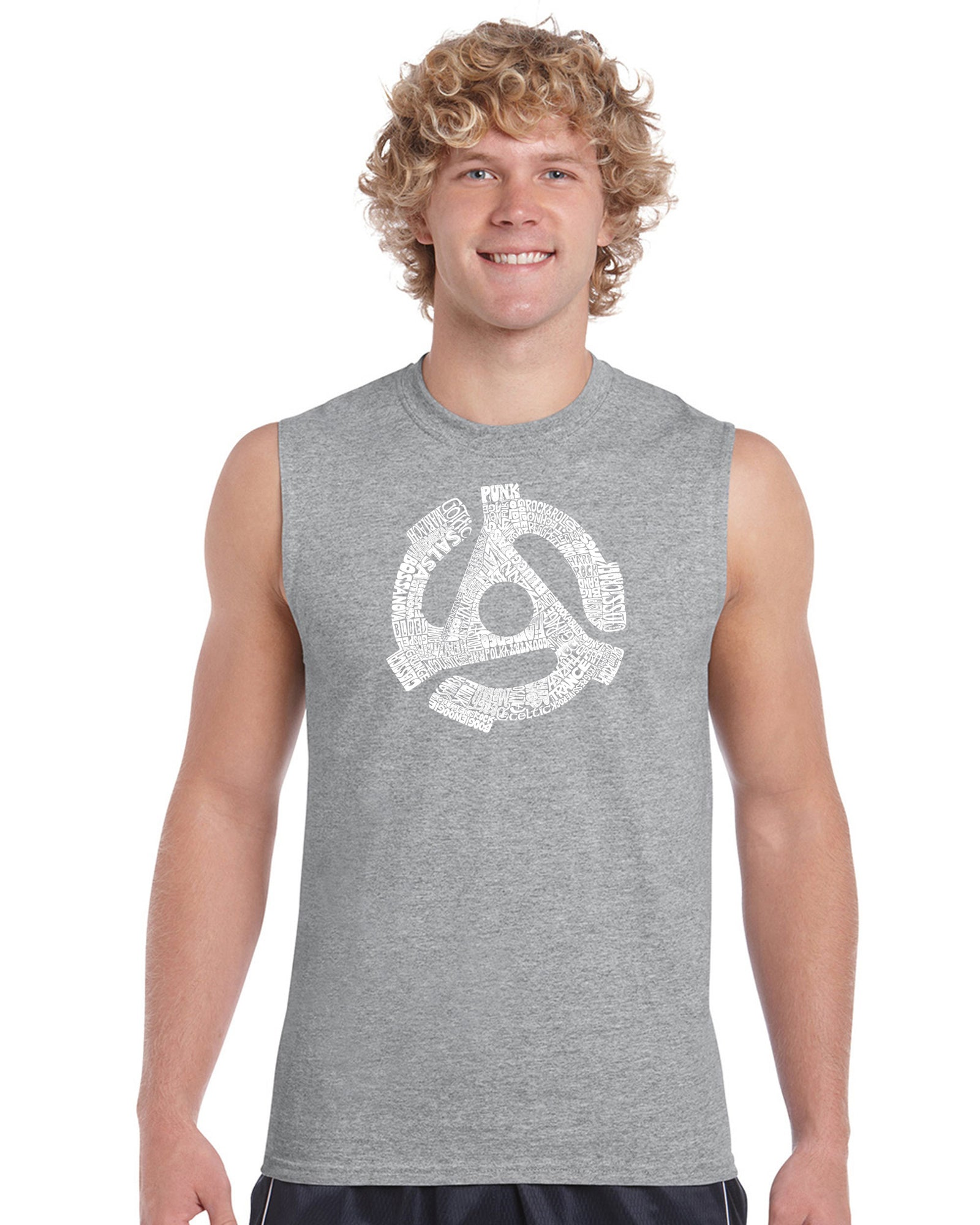 Men's Sleeveless T-shirt - Record Adapter