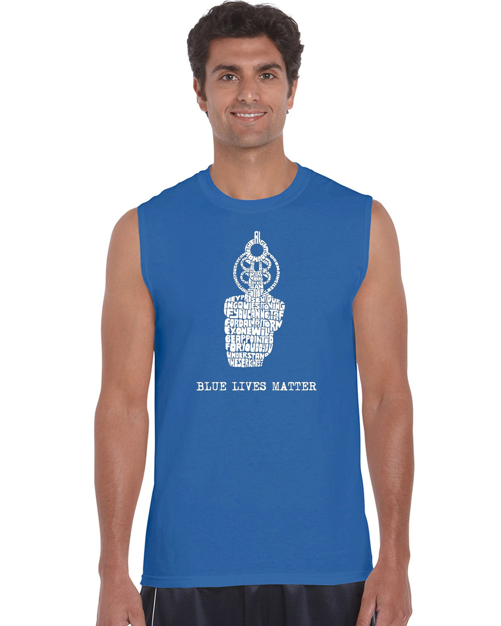 Men's Sleeveless T-shirt - Blue Lives Matter