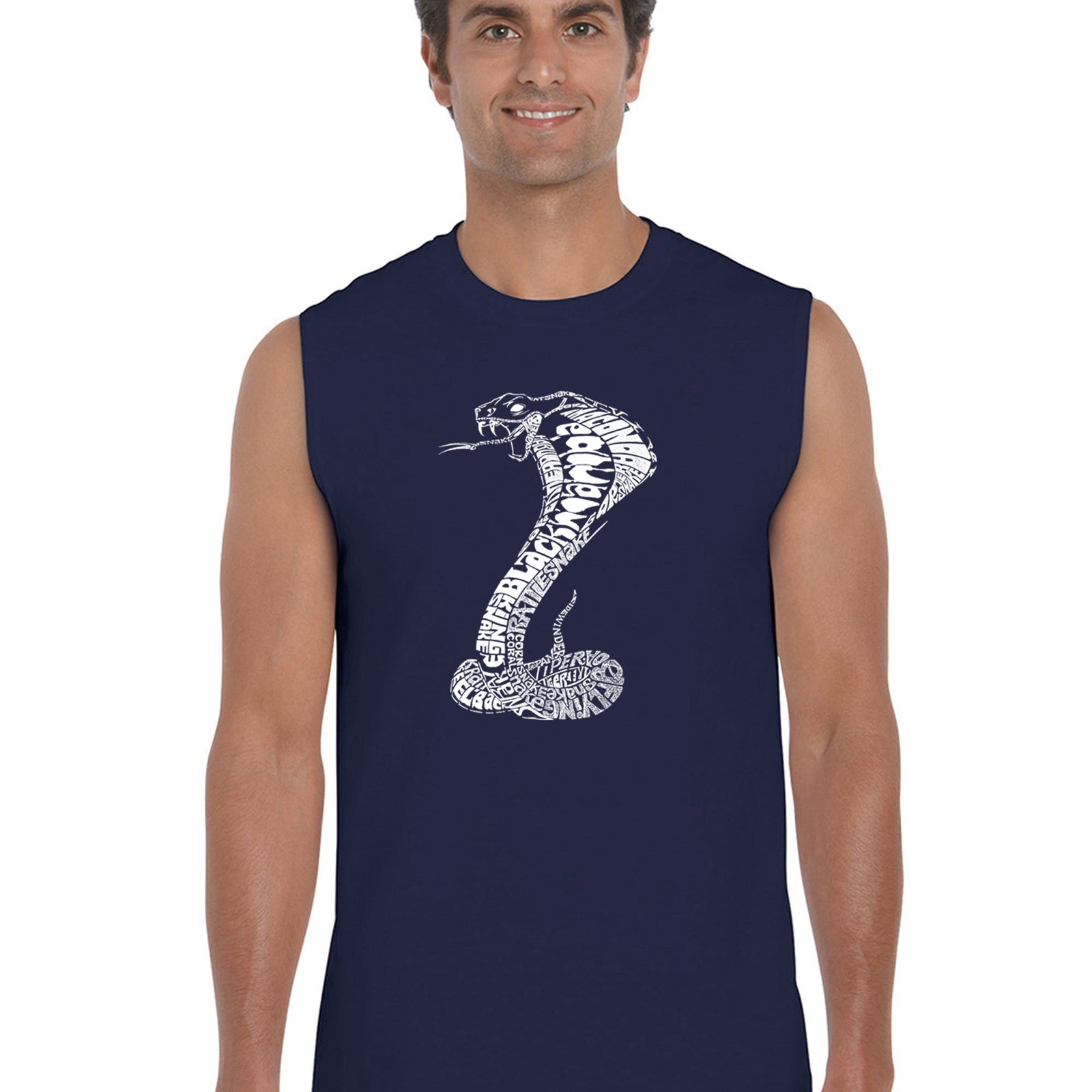 Men's Word Art Sleeveless T-shirt - Tyles of Snakes