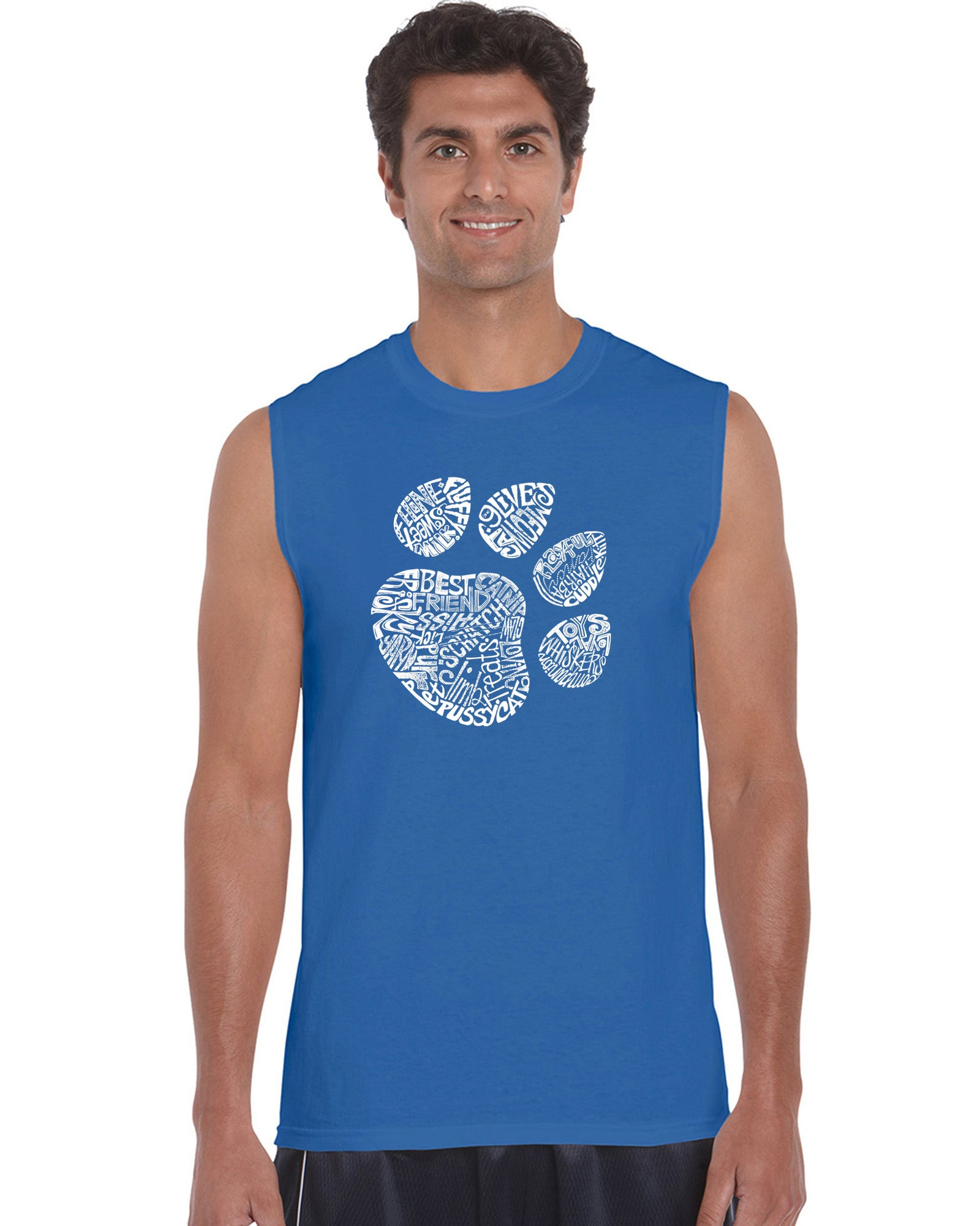 Men's Sleeveless T-shirt - Cat Paw