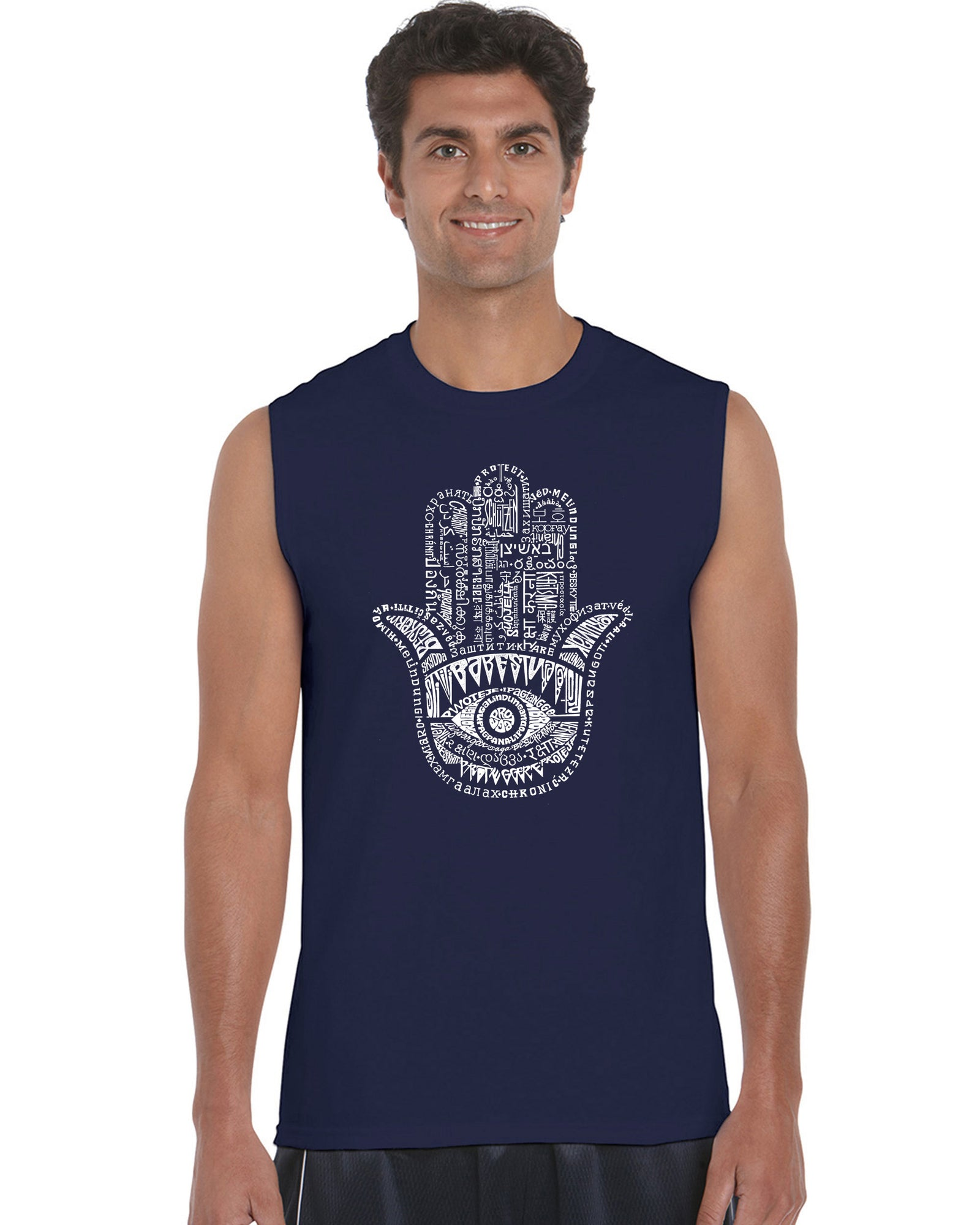 Men's Sleeveless T-shirt - Hamsa