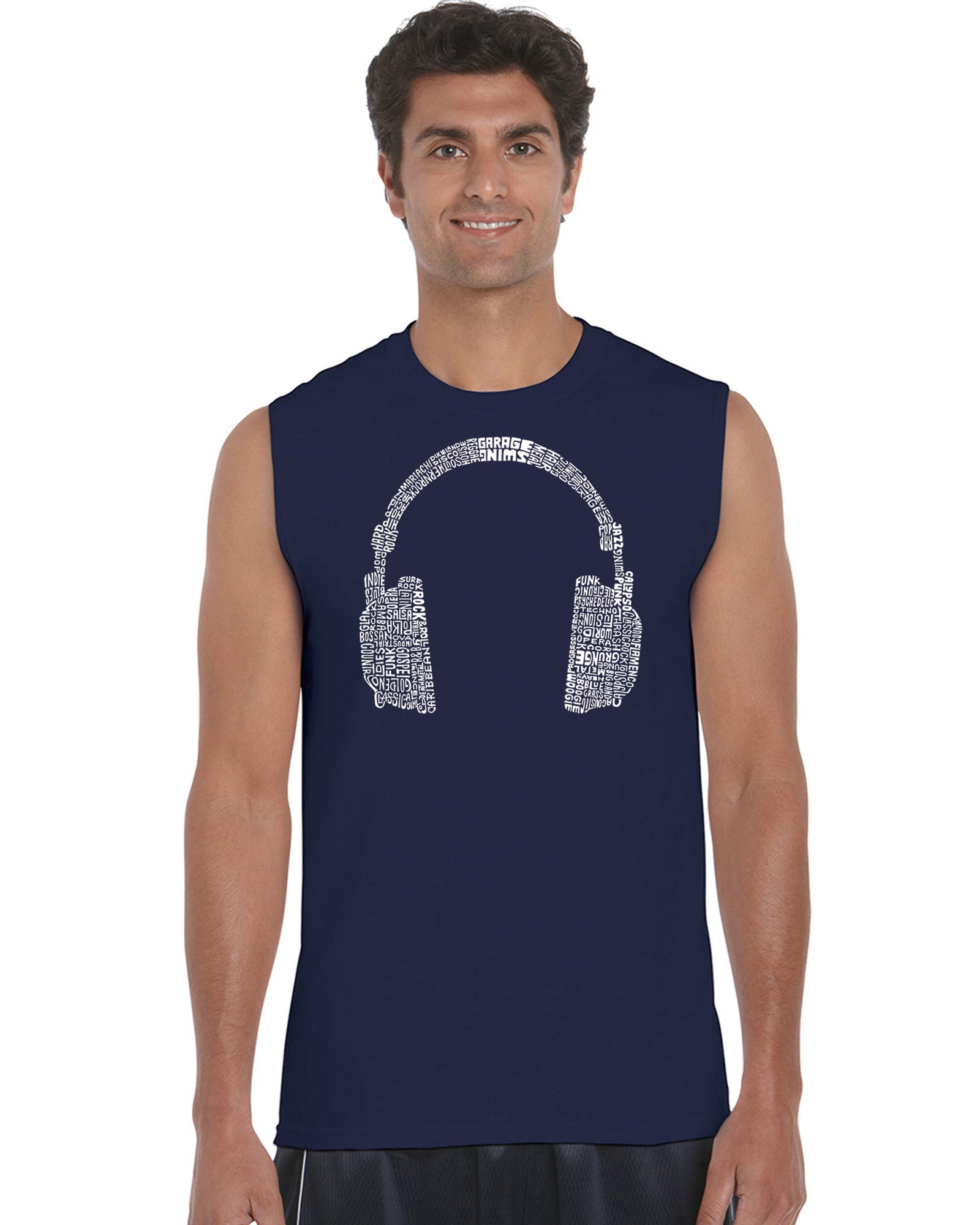 Men's Sleeveless T-shirt - 63 DIFFERENT GENRES OF MUSIC