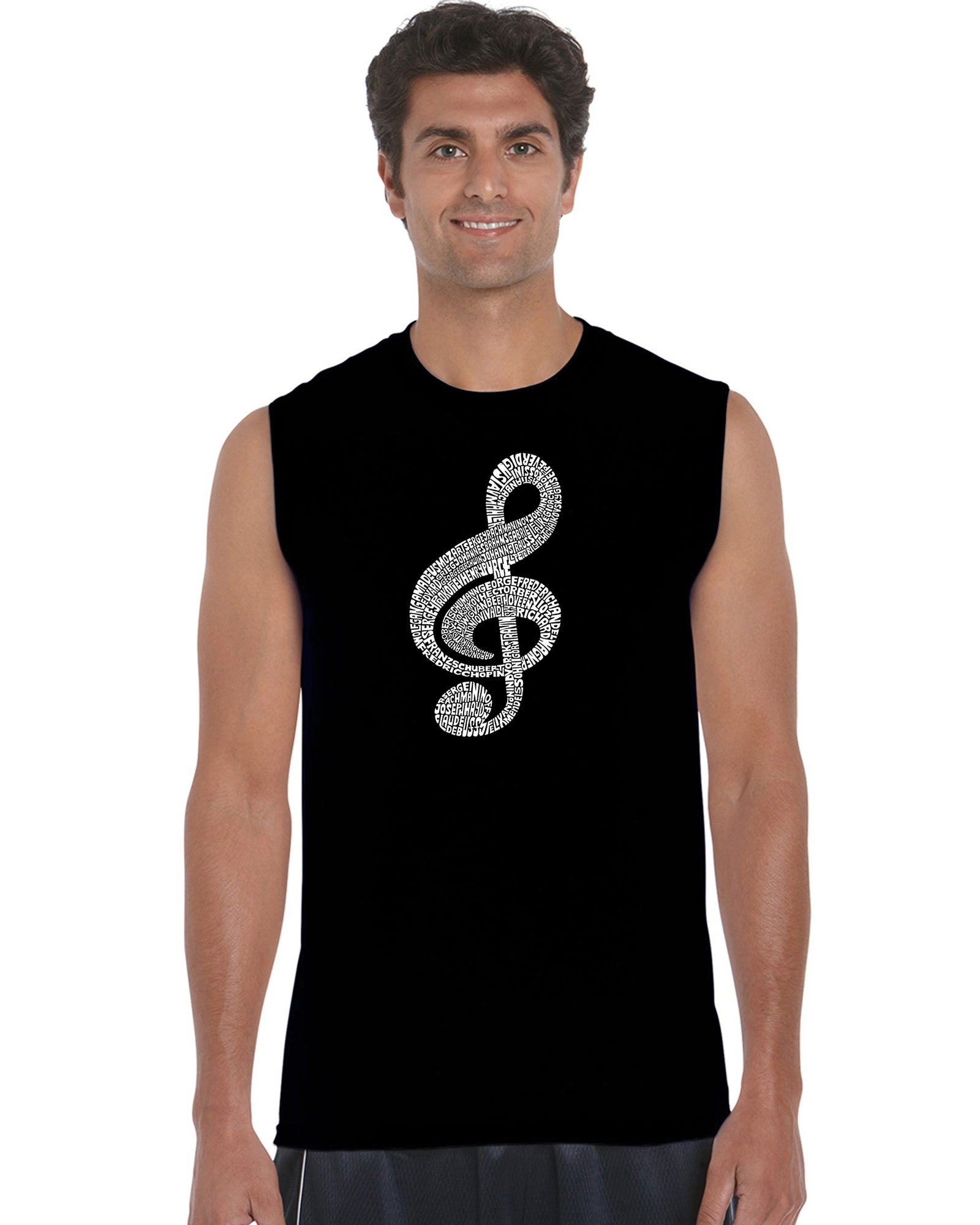 Men's Sleeveless T-shirt - Music Note