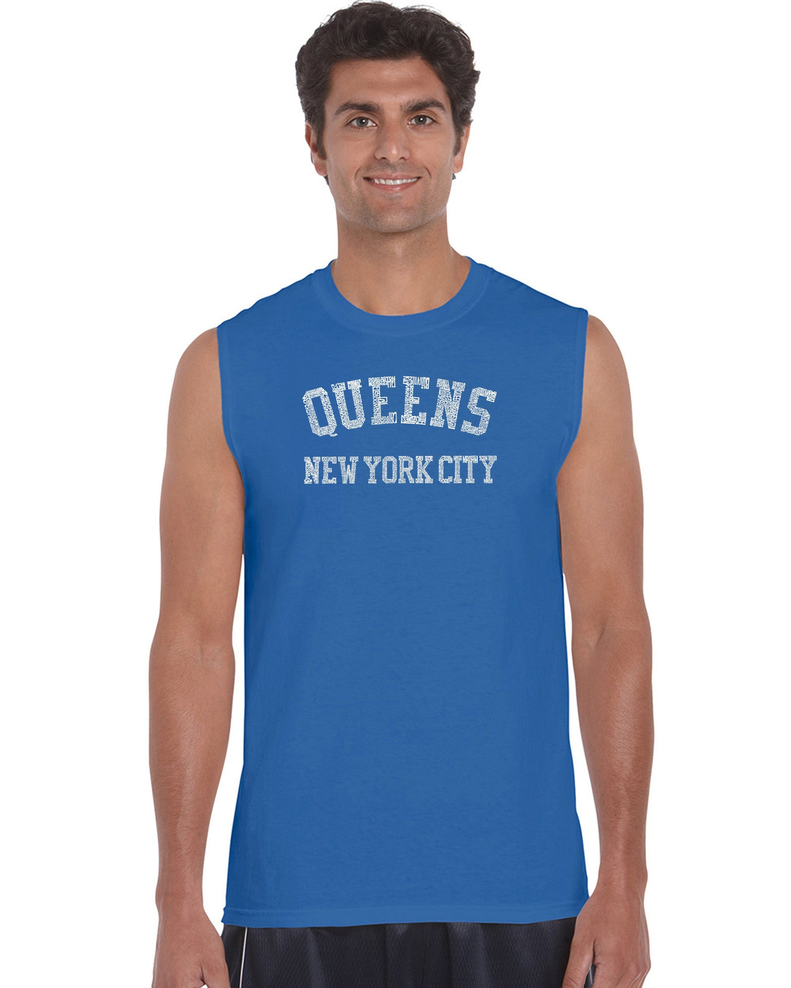 Men's Sleeveless T-shirt - POPULAR NEIGHBORHOODS IN QUEENS, NY