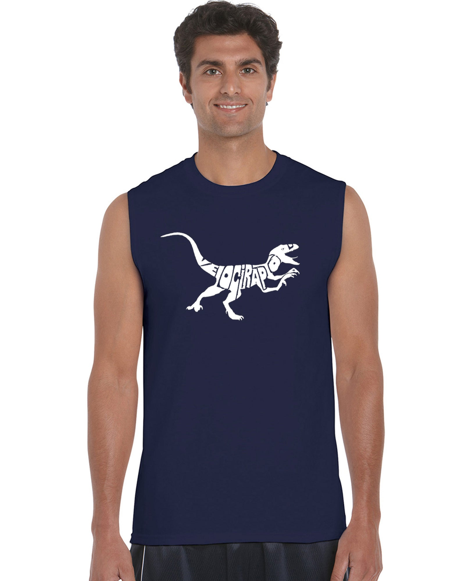 Men's Sleeveless T-shirt - Velociraptor