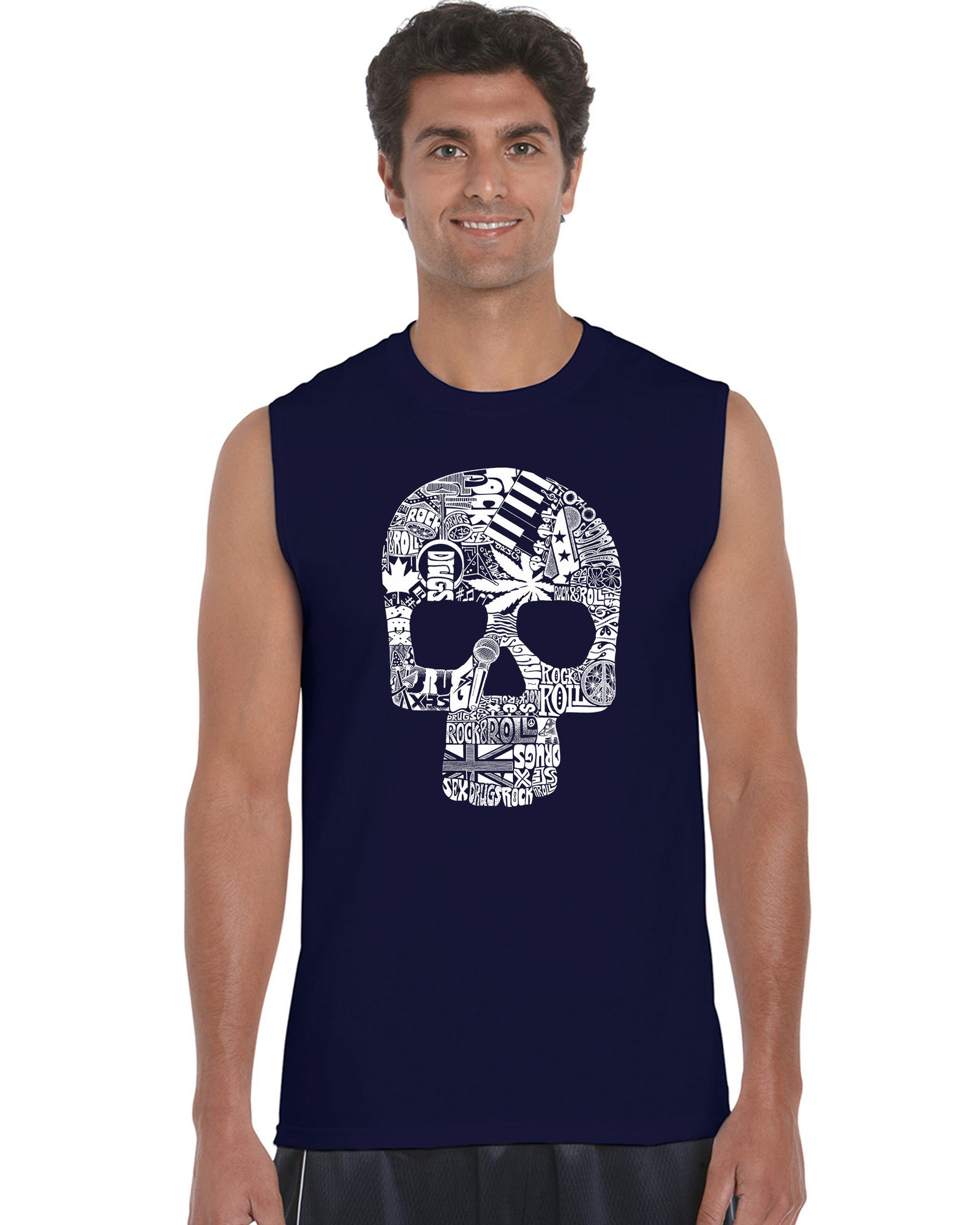 Men's Sleeveless T-shirt - Sex, Drugs, Rock & Roll
