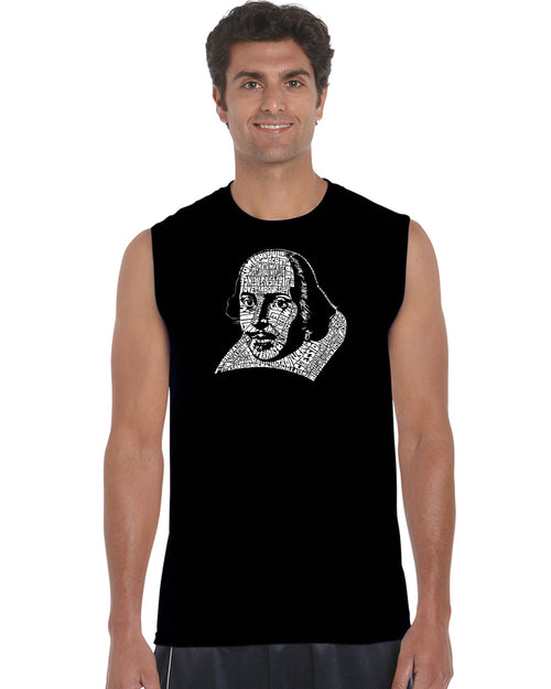 Men's Sleeveless T-shirt - THE TITLES OF ALL OF WILLIAM SHAKESPEARE'S COMEDIES & TRAGEDIES