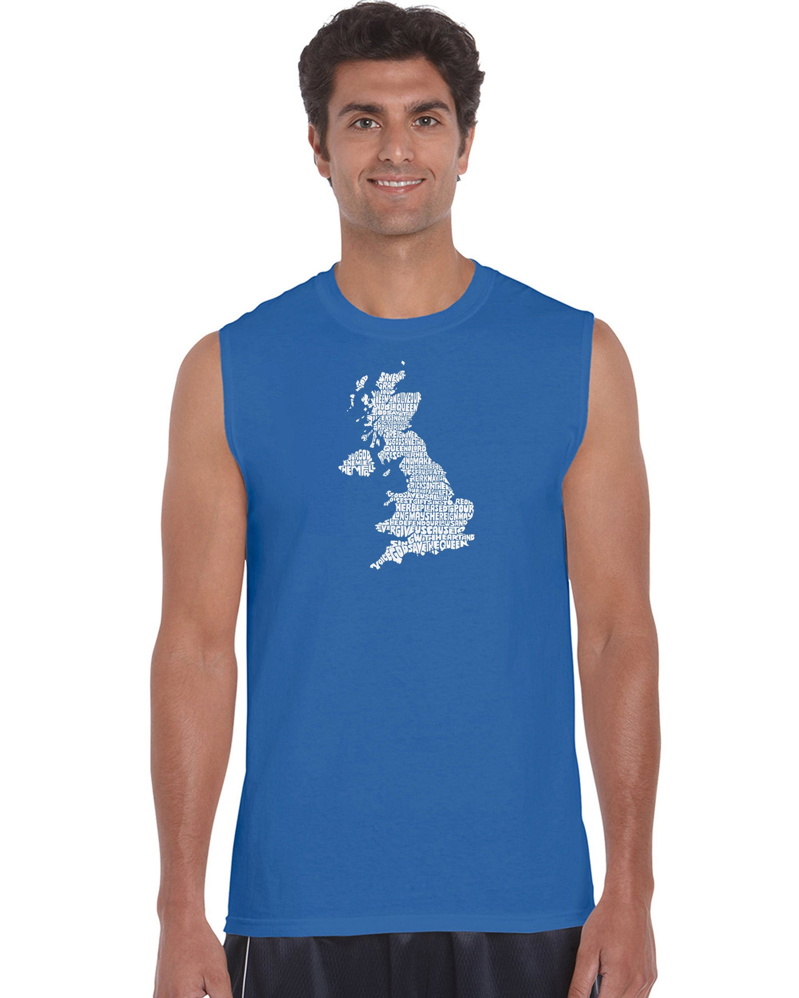 Men's Sleeveless T-shirt - GOD SAVE THE QUEEN