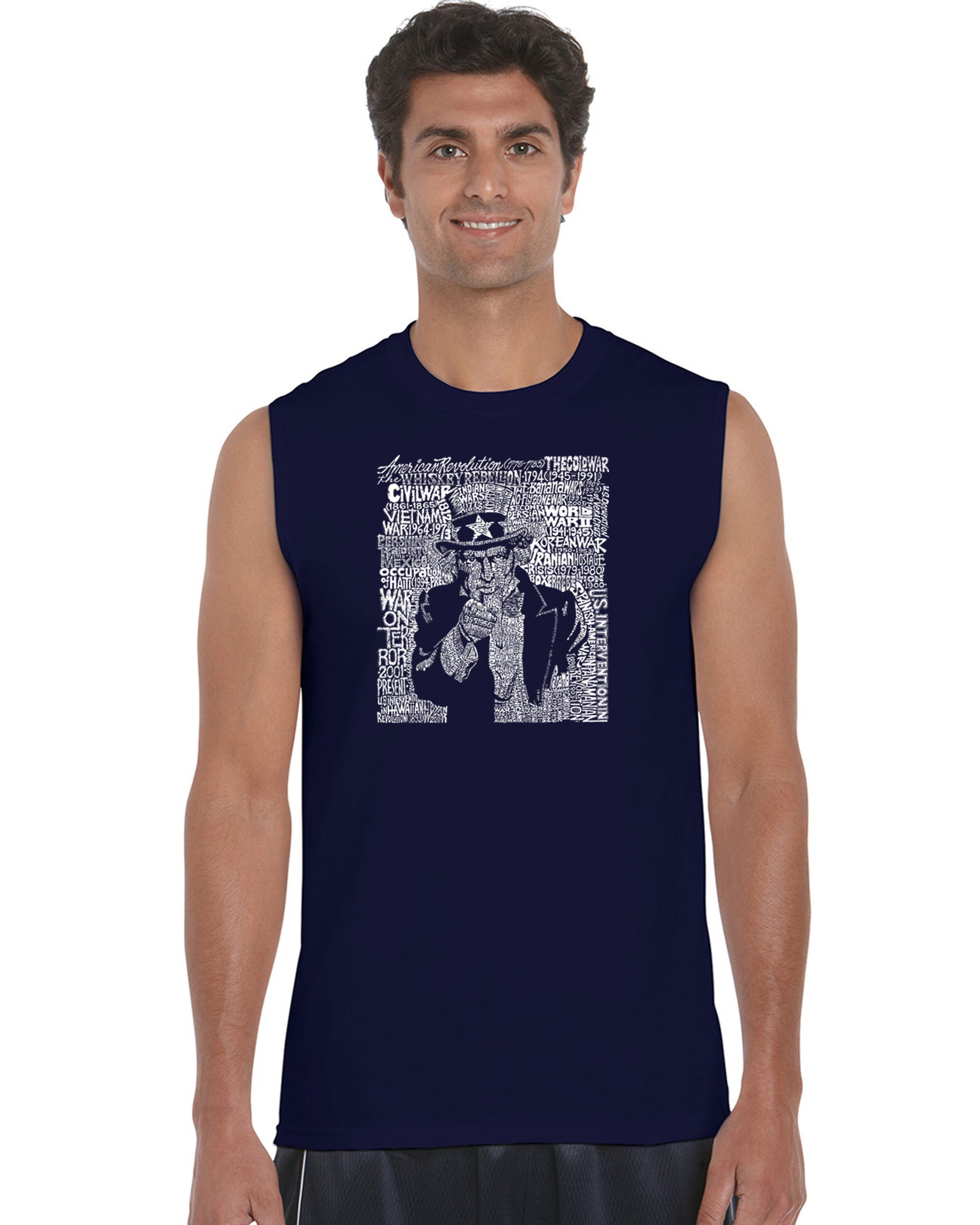 Men's Sleeveless T-shirt - UNCLE SAM
