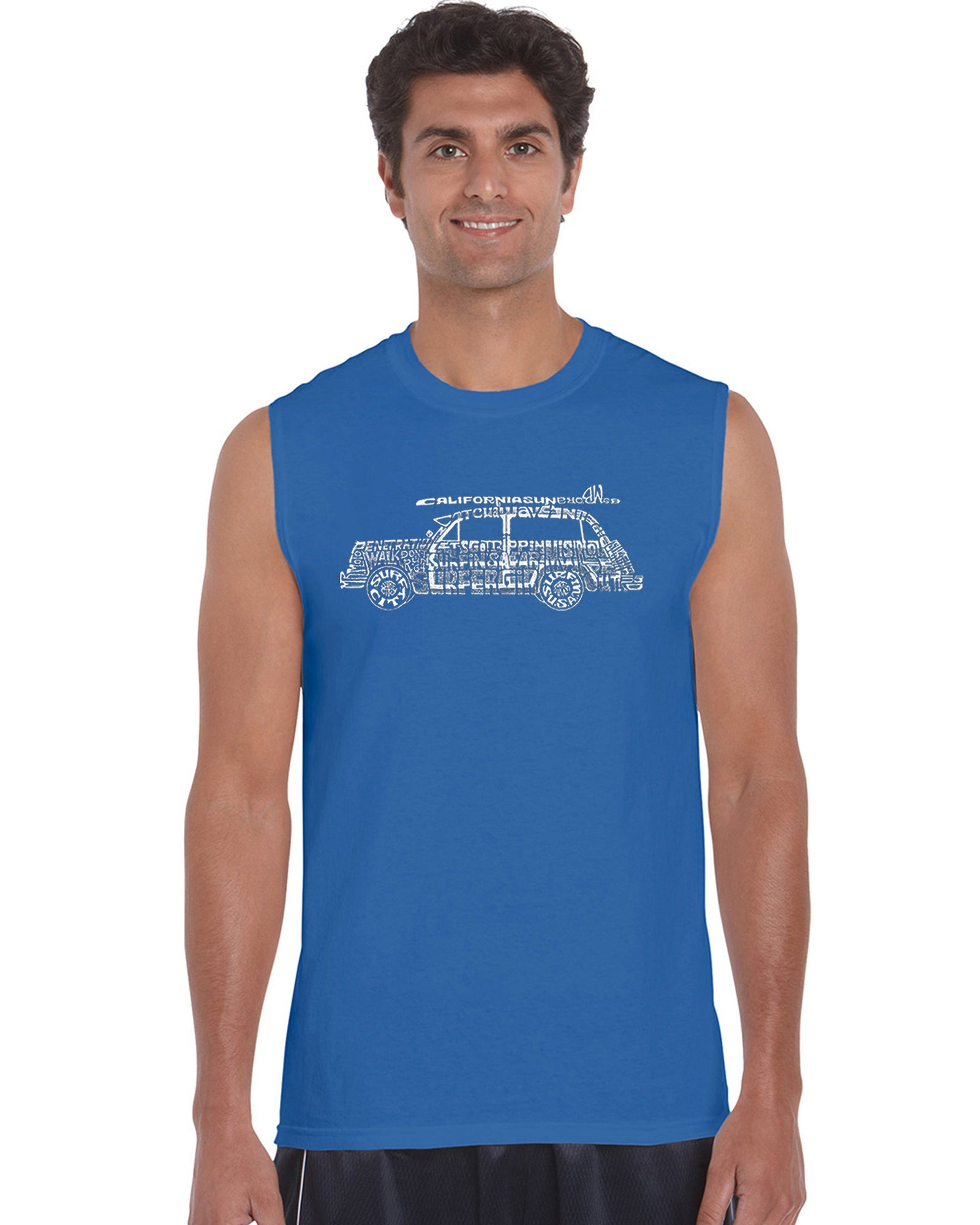 Men's Sleeveless T-shirt - Woody - Classic Surf Songs