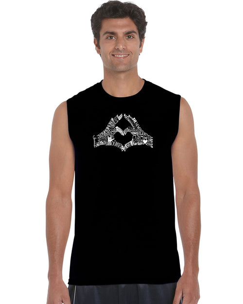 Men's Sleeveless T-shirt - Finger Heart