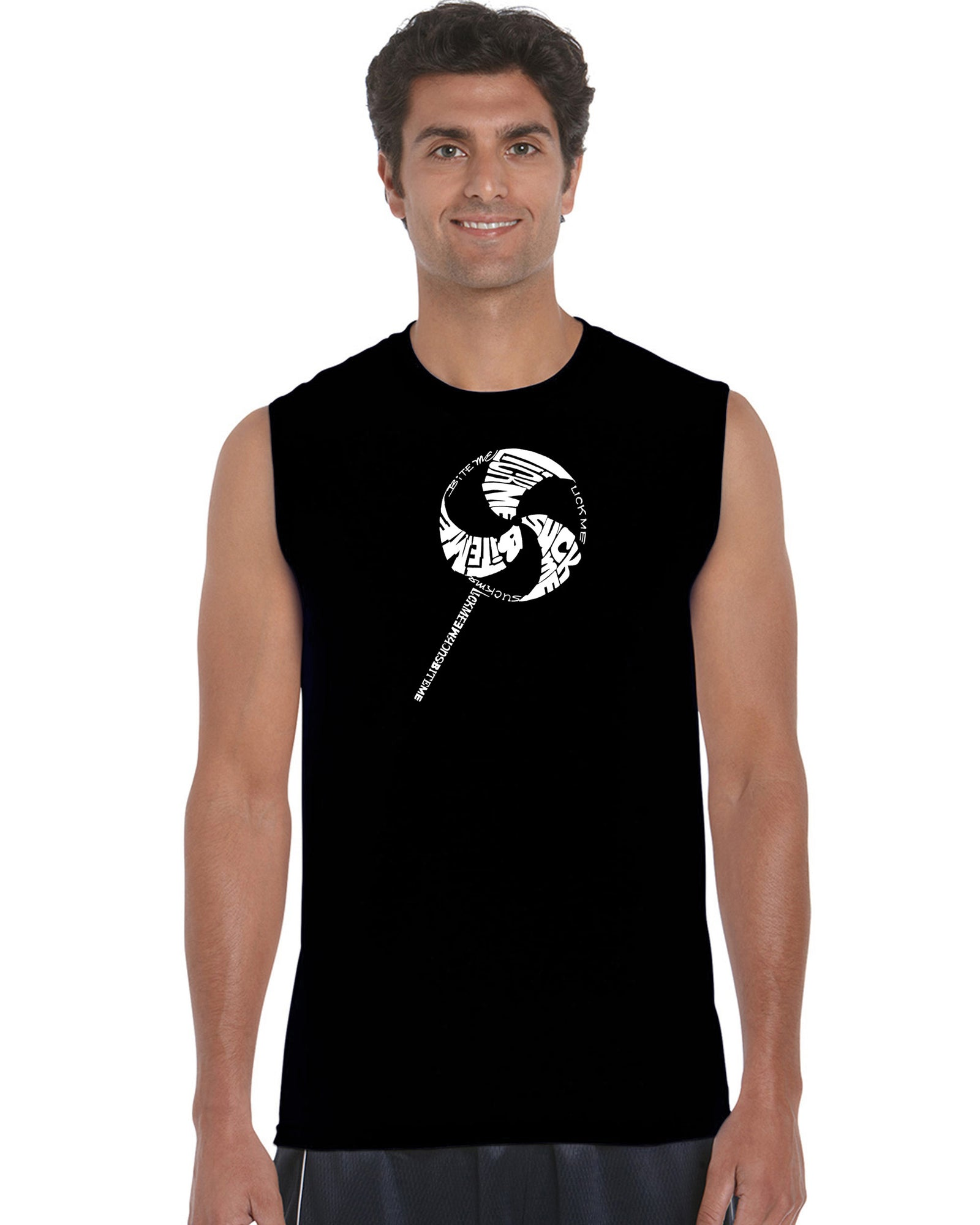 Men's Sleeveless T-shirt - Lollipop