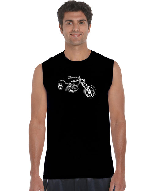Men's Sleeveless T-shirt - MOTORCYCLE