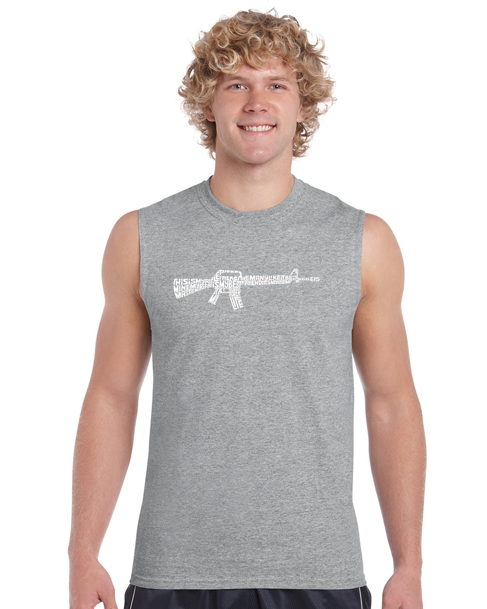 Men's Sleeveless T-shirt - RIFLEMANS CREED
