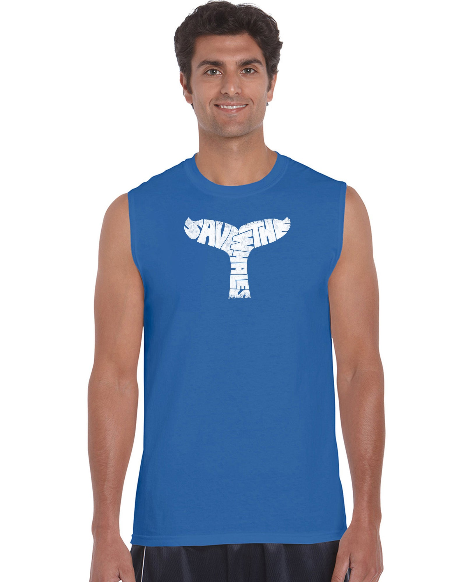Men's Sleeveless T-shirt - SAVE THE WHALES