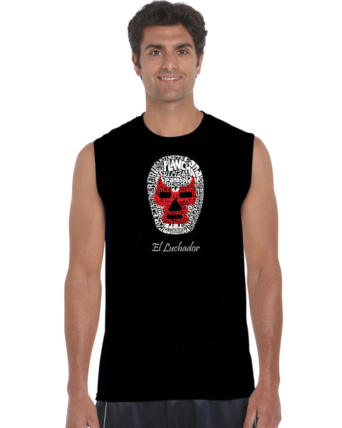 Men's Sleeveless T-shirt - MEXICAN WRESTLING MASK