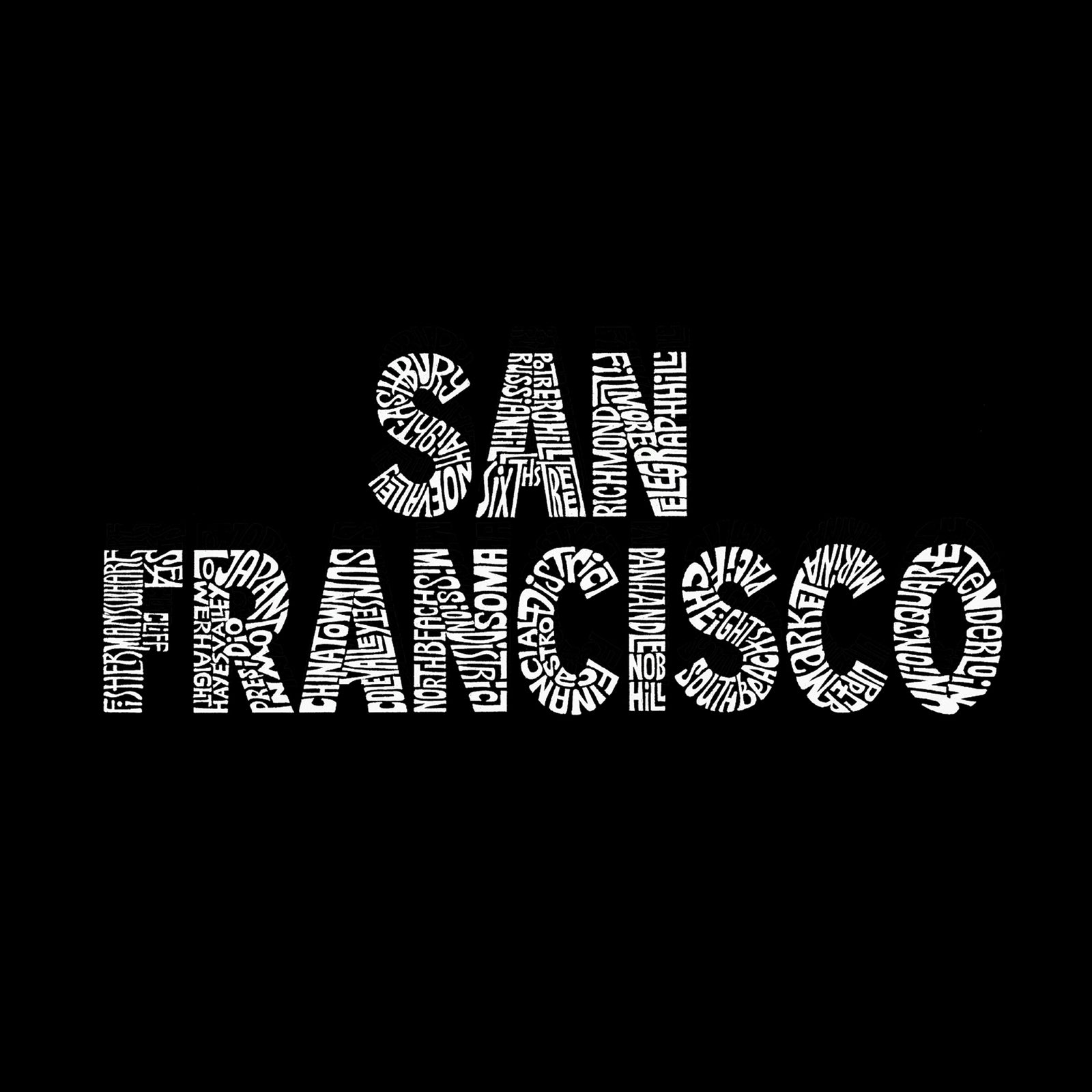 Men's Hooded Sweatshirt - SAN FRANCISCO NEIGHBORHOODS