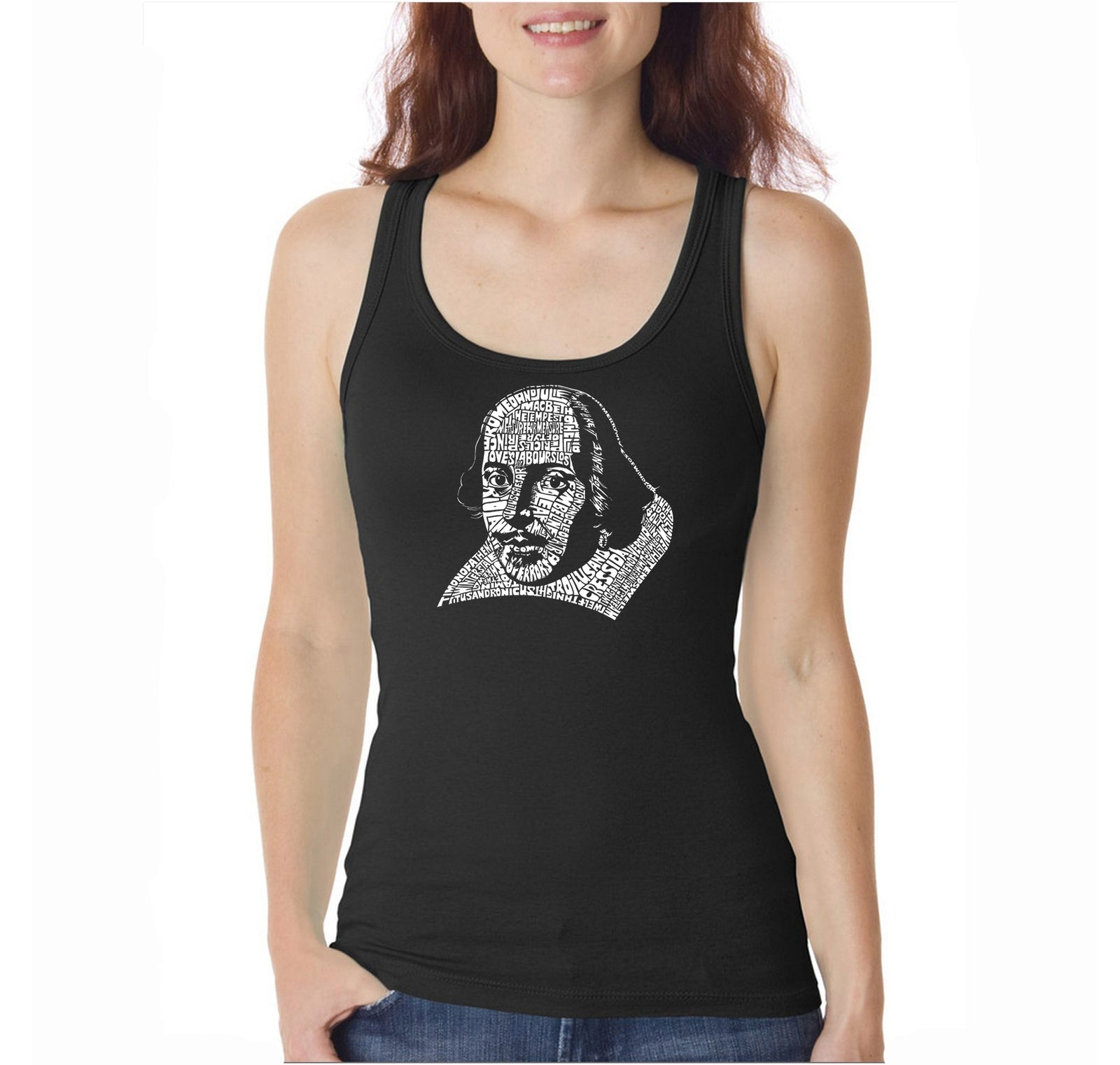 Women's Tank Top - THE TITLES OF ALL OF WILLIAM SHAKESPEARE'S COMEDIES & TRAGEDIES