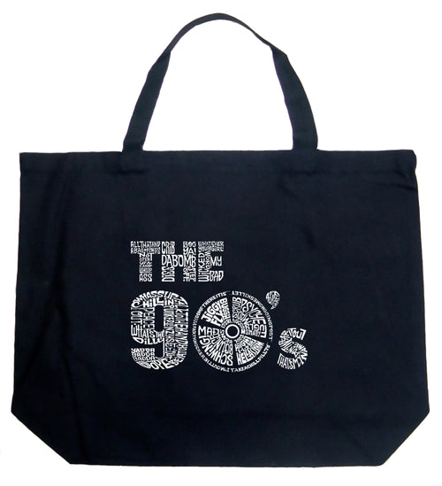 Large Word Art Tote Bag - 90S