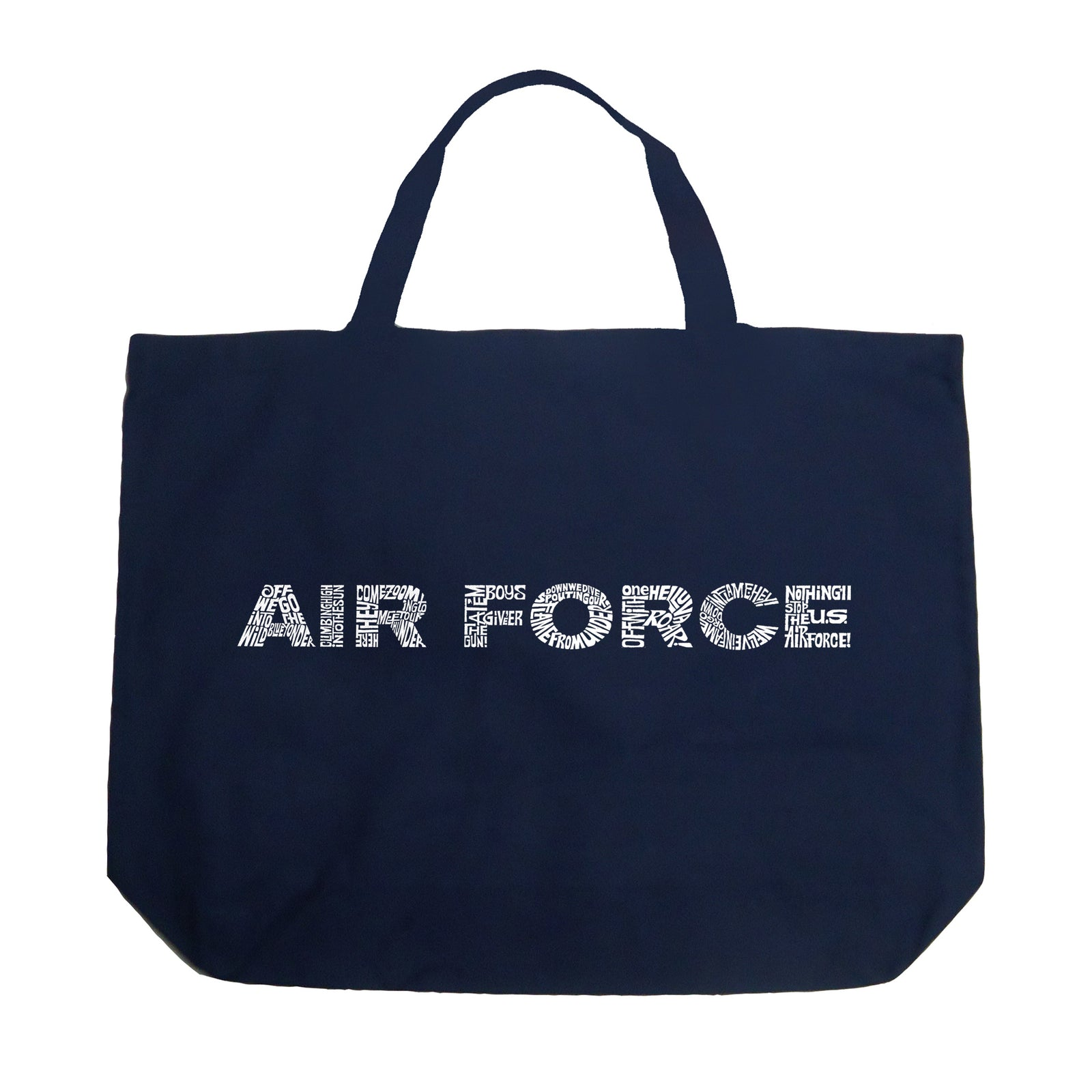 Large Tote Bag - Lyrics To The Air Force Song
