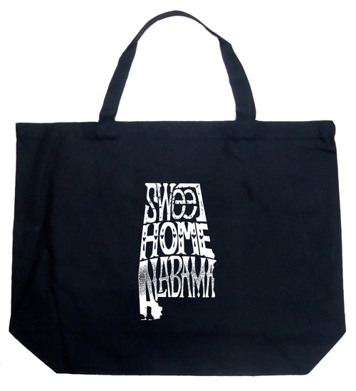 Large Word Art Tote Bag - Sweet Home Alabama