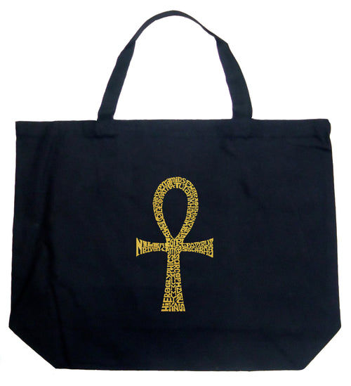 Large Word Art Tote Bag - ANKH