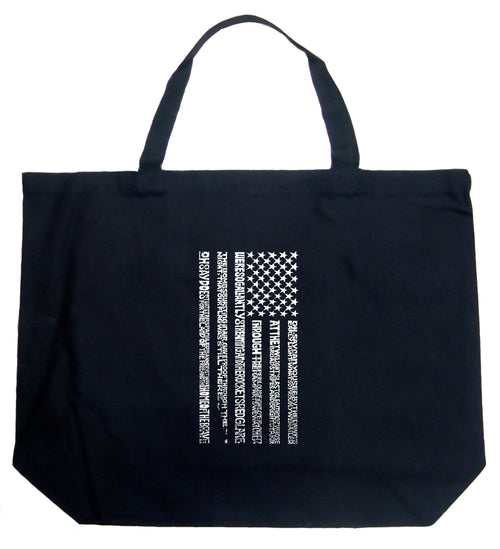 Large Word Art Tote Bag - National Anthem Flag