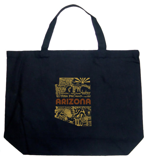 Large Word Art Tote Bag - Az Pics