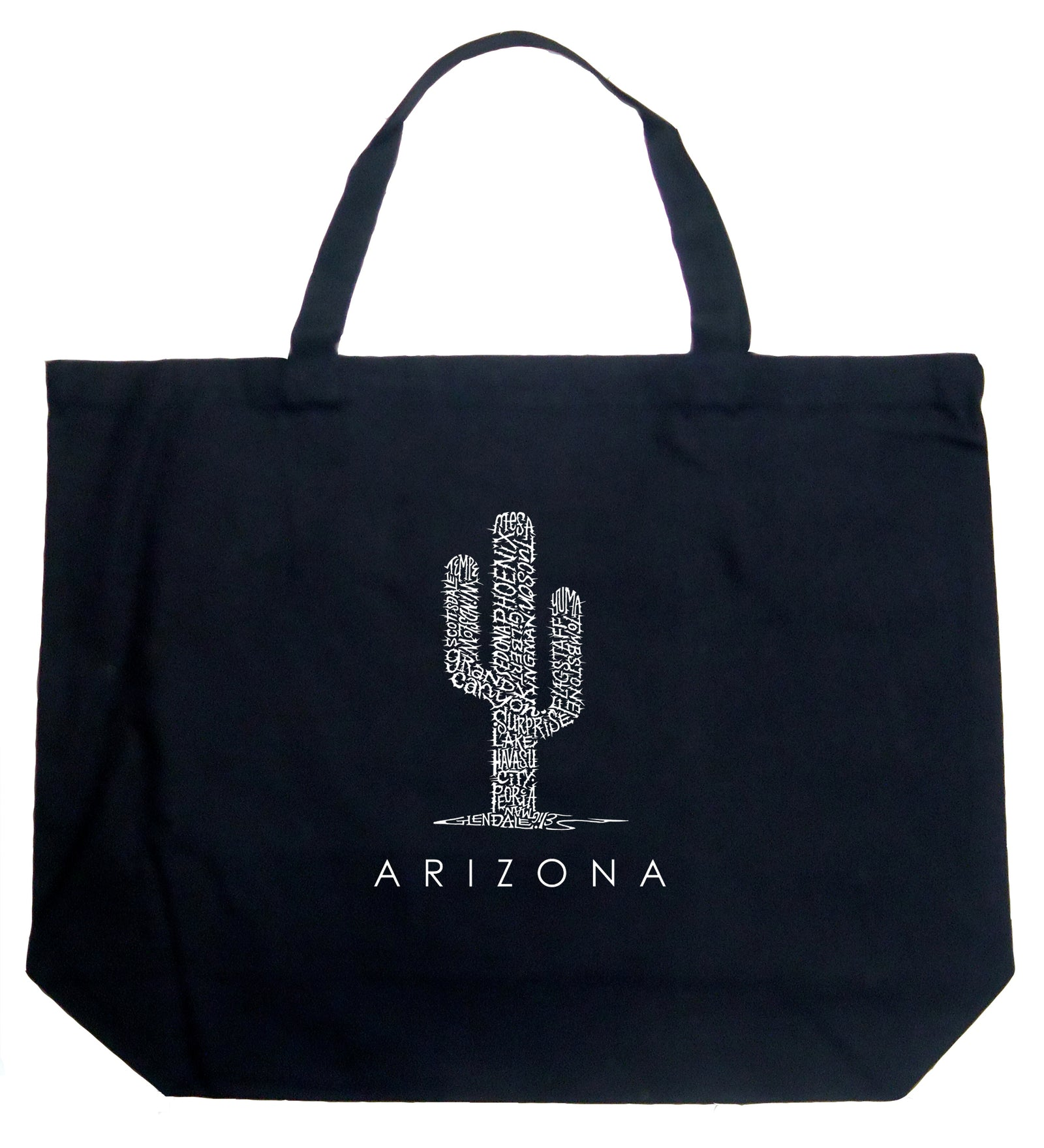 Los Angeles Pop Art Large Tote Bag - Arizona Cities