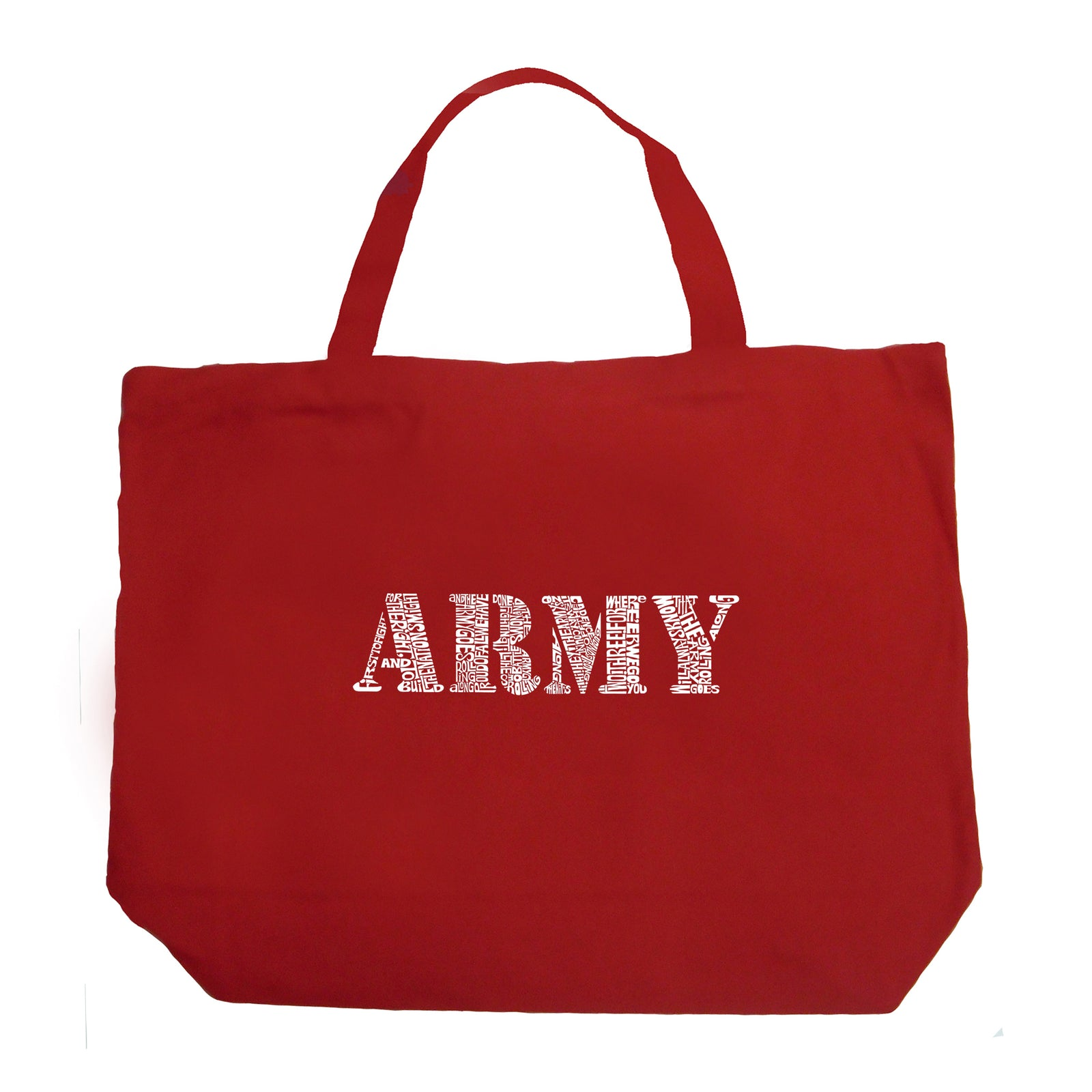 Large Tote Bag - LYRICS TO THE ARMY SONG
