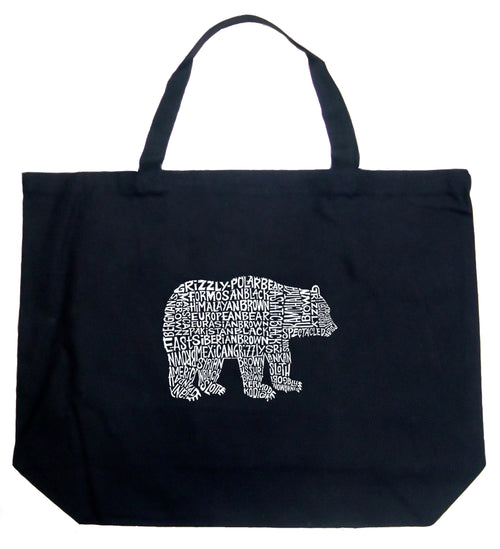 Large Word Art Tote Bag - Bear Species