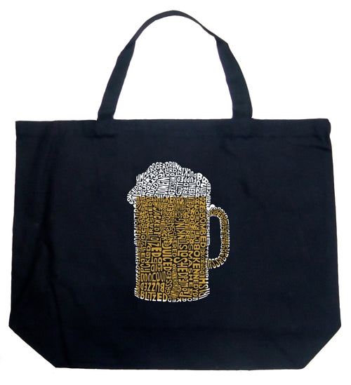 Large Tote Bag - Slang Terms for Being Wasted