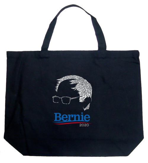 Large Word Art Tote Bag - Bernie Sanders 2020