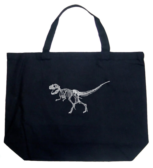 Large Tote Bag - Dinosaur T-Rex Skeleton