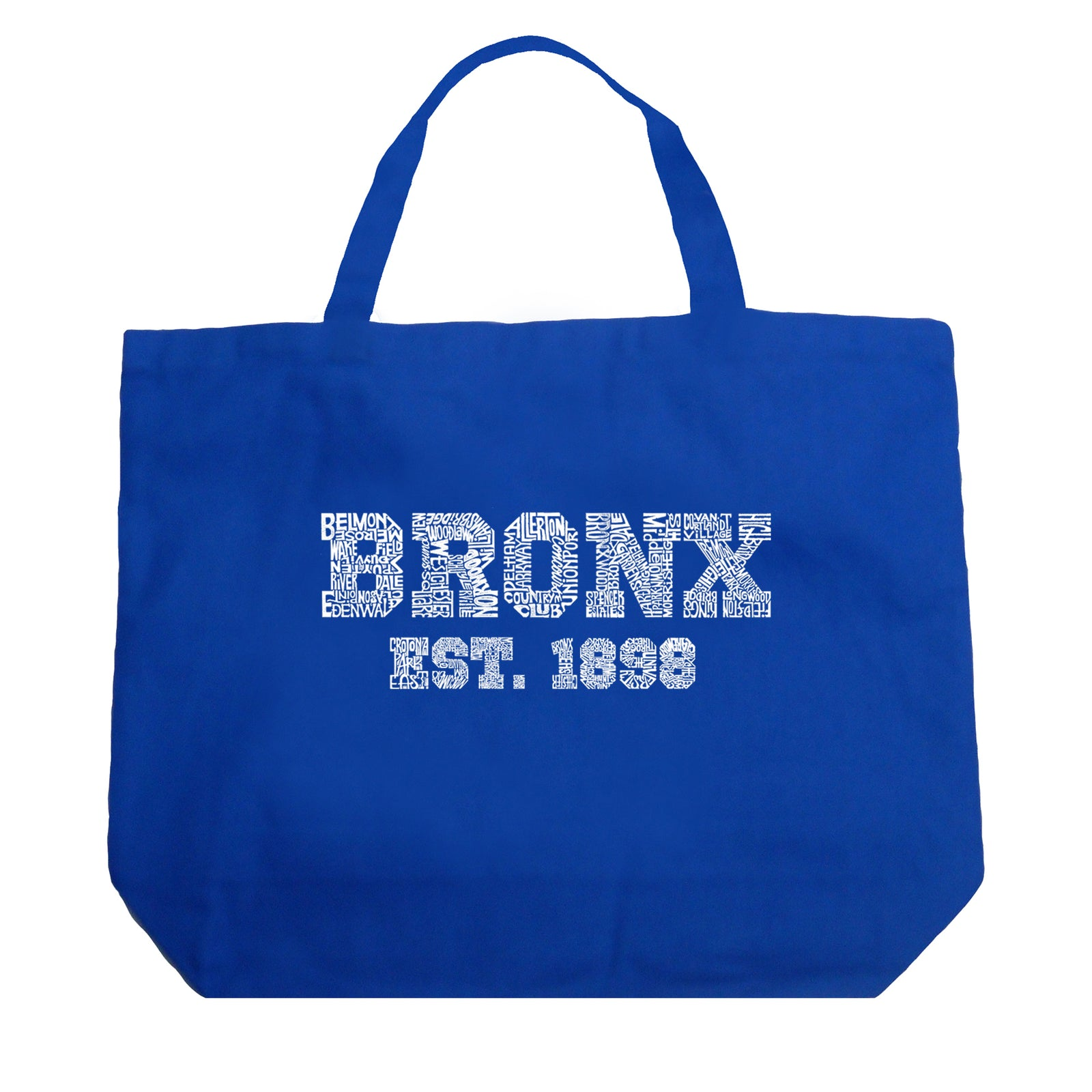 Large Tote Bag - POPULAR NEIGHBORHOODS IN BRONX, NY
