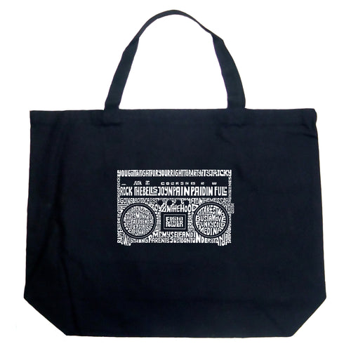 Large Tote Bag - Greatest Rap Hits of The 1980's