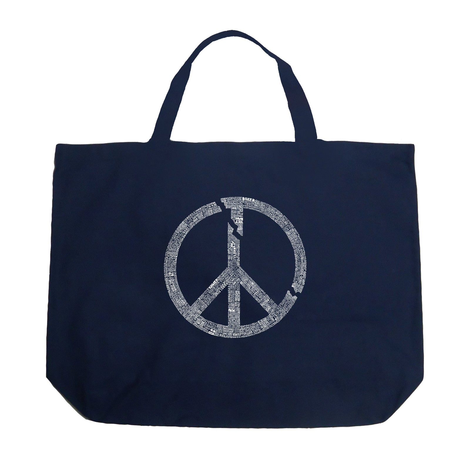 Large Tote Bag - EVERY MAJOR WORLD CONFLICT SINCE 1770
