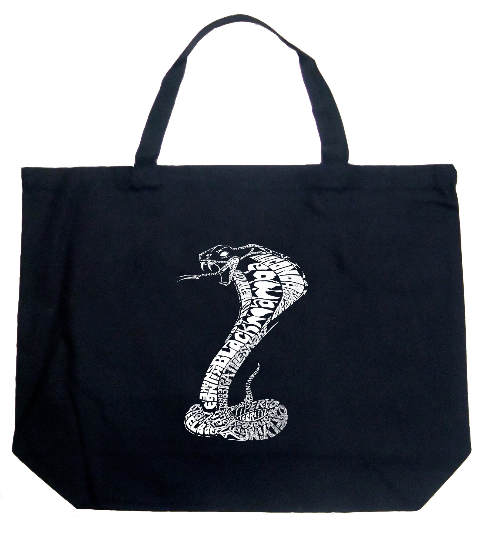 Large Word Art Tote Bag - Tyles of Snakes