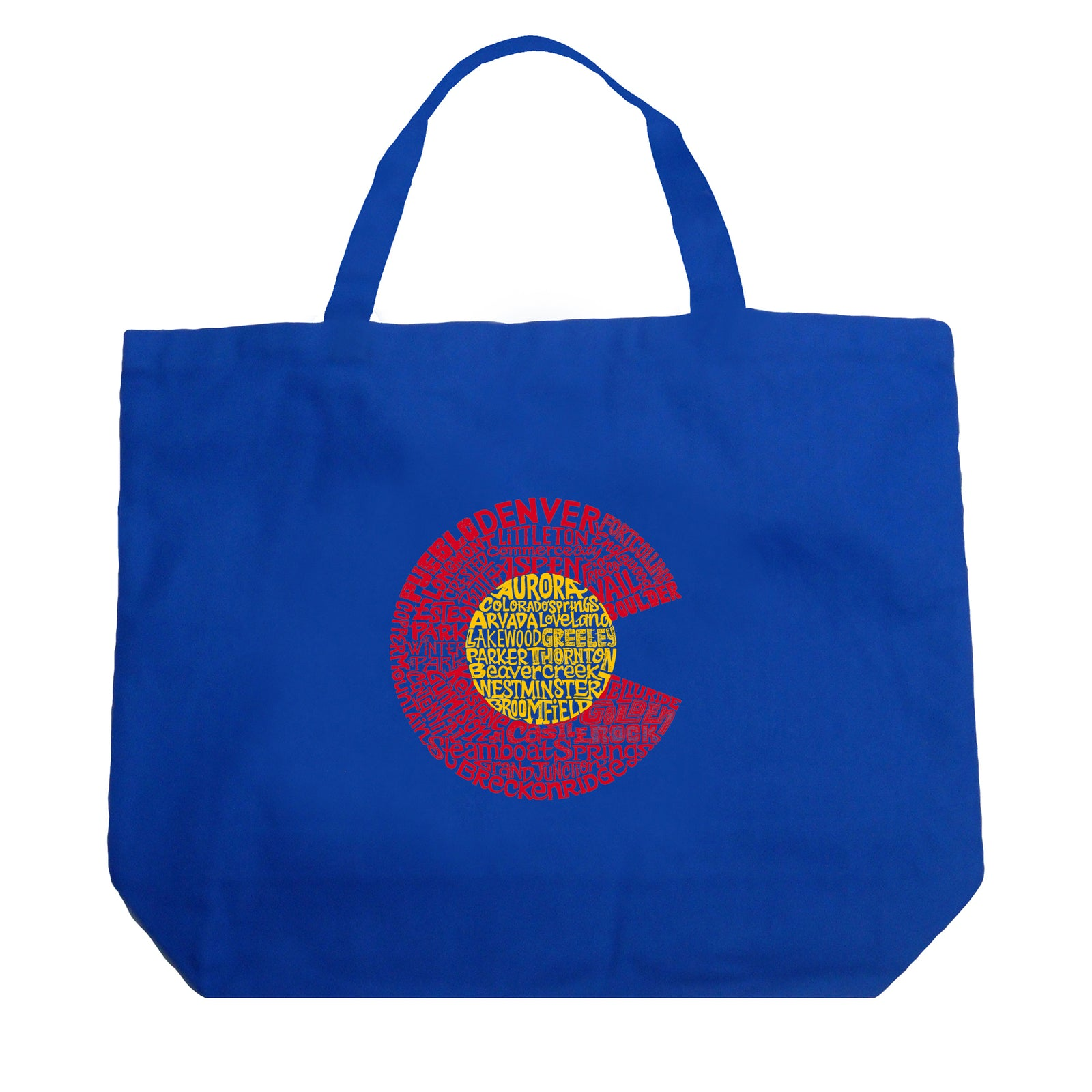 Large Word Art Tote Bag - Colorado
