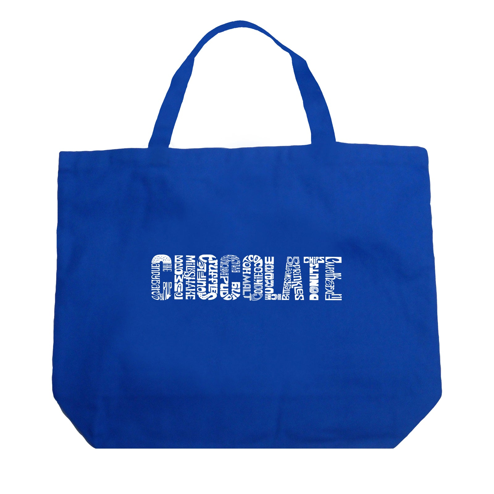 Large Tote Bag - Different foods made with chocolate