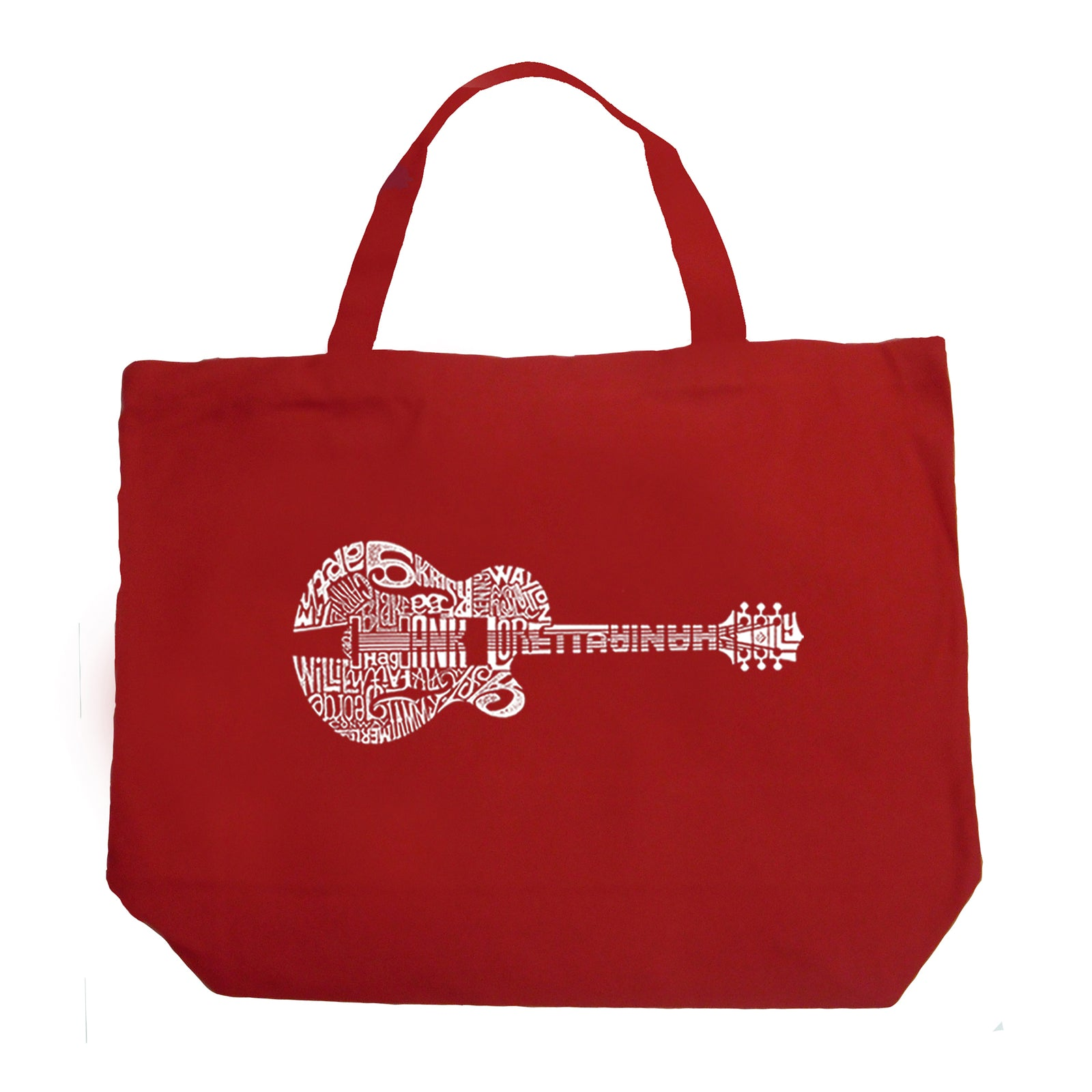 Large Tote Bag - Country Guitar